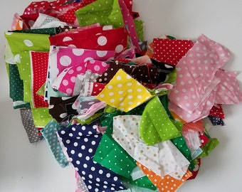 Scrap Fabric Destash Fabric Medium Flat Rate Priority Box Filled to the Max with Assorted Polka Dot Fabrics Scrap Pieces Quilting Scraps