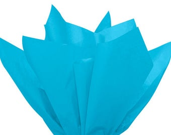 TURQUOISE BLUE Tissue Paper 24 Sheets Premium Tissue Paper for Craft Projects, Gift Wrapping, and DIY