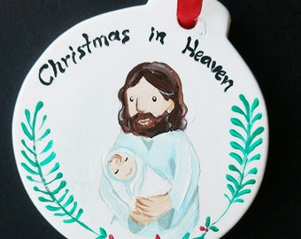 Hand Painted Berevement Ornament