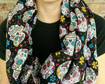 Sugar skull scarf