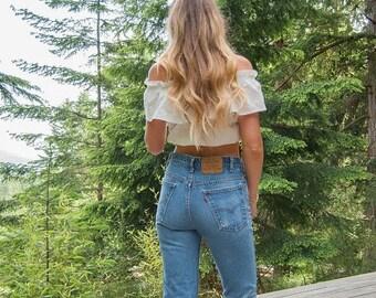 Summer SALE 70's levis jeans, Womens 29 30 Waist Orange Tab levis 517 jeans, high waisted jeans, Distressed Jeans, high waist Boyfriend jean