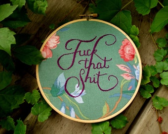 Hand embroidered /Hoop art/ quote art/ wall hanging