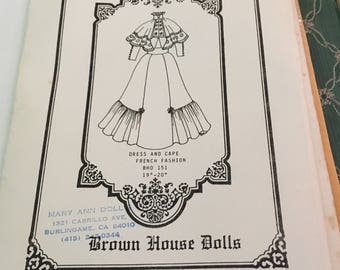 French fashion doll dress pattern