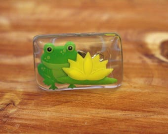 Frog and Lily Pad Ring