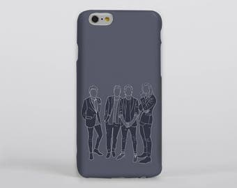 Blue Direction Phone Case iPhone Samsung One Direction Harry Styles Louis Tomlinson Liam Payne Niall Horan Portrait Drawing Illustration