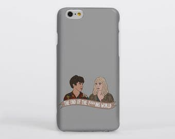 Gift The End of the F***ing World Banner Phone Case iPhone Samsung Gloss Matte Tough Flip Slip Alyssa James TEOTFW Drawing Illustration