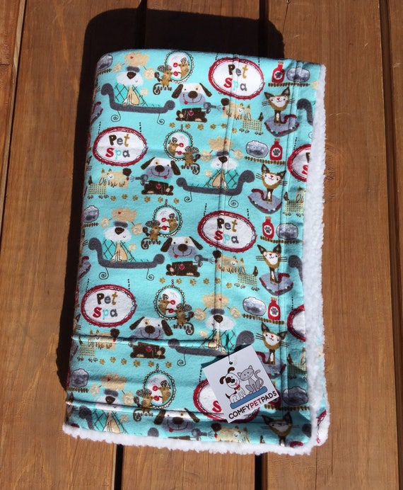 Pet Spa Blanket, Dog Blanket, Spoiled Cat Gift, Pampered Pooch Gifts, Stroller Cover, Baby Shower Gifts, Washable Pet Bed, Little Girl Gifts