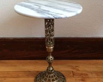 Vintage Marble Top Tea Table