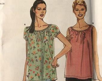 NEW UNCUT Simplicity 9178 pattern women's top sizes 6,8,10,12,14,16