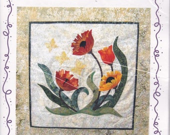 Quilt Pattern. Poppy & Butterfly Quilt Pattern. 709.