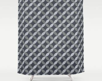 Gray Shower Curtain  Modern Shower Curtain Bathroom Decor  Masculine  Bathroom Decor Geometric  GrayGrey shower curtain   Etsy. Black And Cream Shower Curtain. Home Design Ideas
