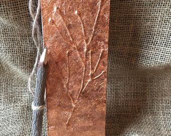 Journey Journal with Natural Wooden Pencil Copper foil