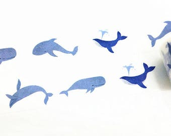 Washi Tape, Whale Washi Tape, Fish Washi Tape