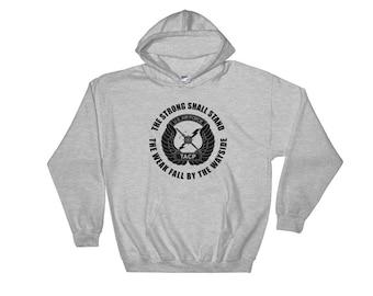 TACP Hooded Sweatshirt Black Print