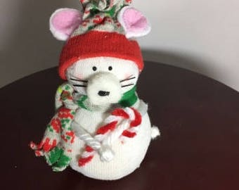 Christmas Mouse - white