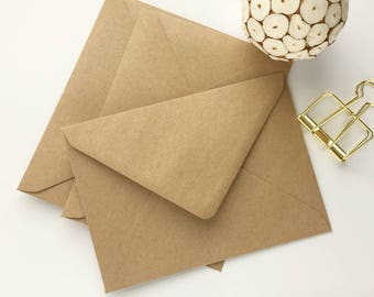 50 Kraft Envelopes A7 5x7 Kraft Envelopes recycled US A7 size rustic for wedding invitations card making supplies Size 5.1/4x7.1/4 133x184mm
