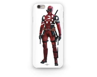 "Deadpool Phone Case Typography Design from the Marvel Universe with his name, ""Deadpool"" in Red and Black i-Phone Case of Deadpool"