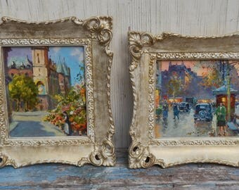 Charming Pair of Vintage Paris Wall Decor!