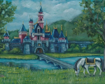 Prince Phillip calling, Oil painting, original art, landscape