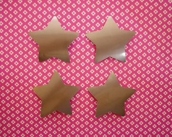 Set of 4 silver stars stickers