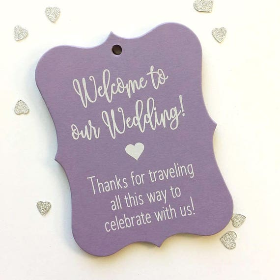 Destination Wedding Gift Tags : Wedding Tags, Hotel Bag Tags, Welcome Wedding Tags, Custom Favor Tags ...