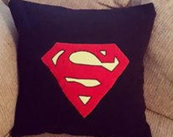Superman Logo Pillow