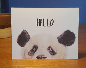 Hello Panda Folded Note