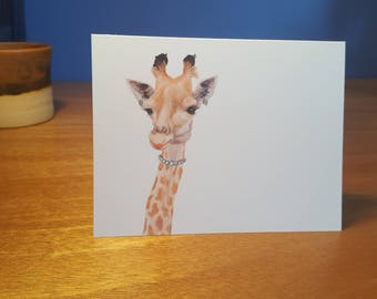 Glamour Giraffe Folded Note