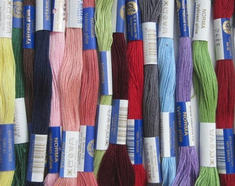Beaded No. 10, ASSORTED colors, set of 25 skeins