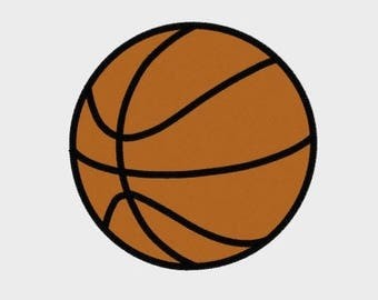 "Basketball Embroidery File in 6 sizes (1"", 2"", 3"", 3.8"", 4"", 5"") - INSTANT DOWNLOAD - Item # 8034"