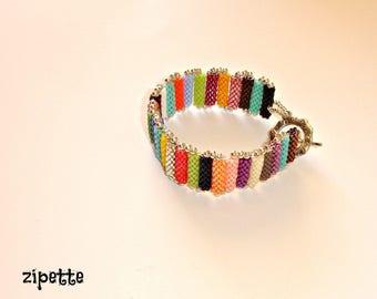 Bracelet multicolored tubes