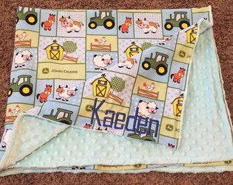 Farm Blanket Baby Farm Animals Tractor Blanket Farm Animal Blanket Embroidered Blanket Sheep Blanket Horse Blanket Boy Blanket Cow Blanket
