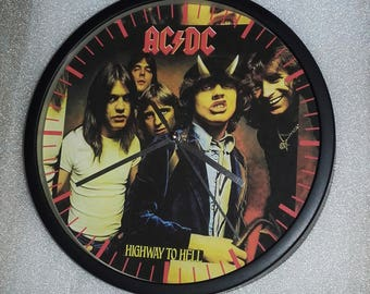 clock wall decor ACDC Rock