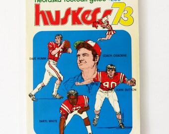 Vtg 1973 Nebraska Cornhuskers Huskers Football Media Guide