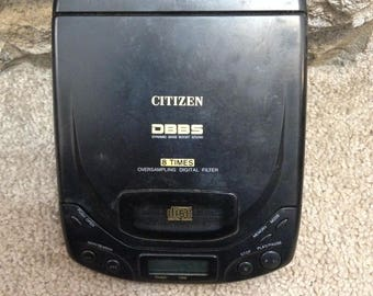 Vintage Citizen JCD 4032X Compact CD Player - Discman DBBS (Dynamic Bass Boost Sound)