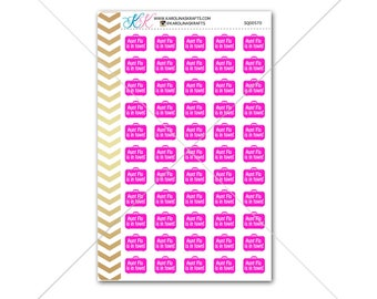 Aunt Flo Stickers for planner, calendar! Functional planner stickers quote sticker functional sticker #SQ00570