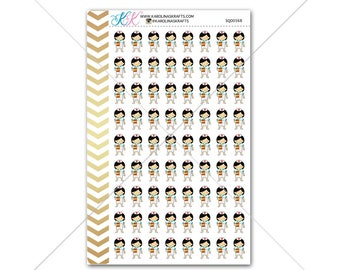 Girl Nurse/Doctor Stickers for planner, calendar! Functional planner stickers hospital sticker functional sticker medical sticker #SQ00368