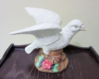Sale Turtle Dove Figurine White Porcelain By Jays Republic Ceramic Woodland