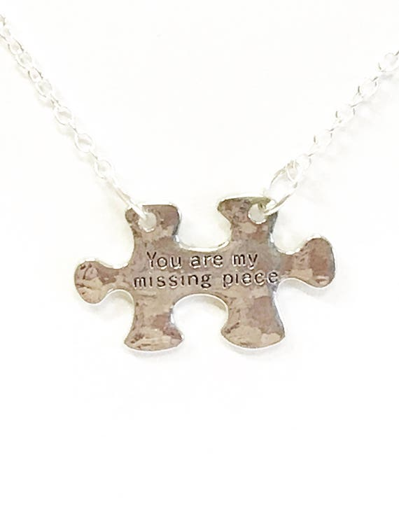 You Are My Missing Piece Connector Puzzle Piece Necklace, Girlfriend Gift, Gift for Daughter, Love Jewelry For Her, Jewelry Gift For Wife