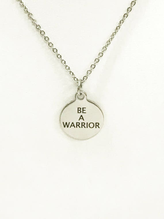 Motivating Jewelry, Be A Warrior Necklace, Motivation Gifts, Motivating Necklace, Self Motivating Quotes, Your Word Necklace, Success Quotes
