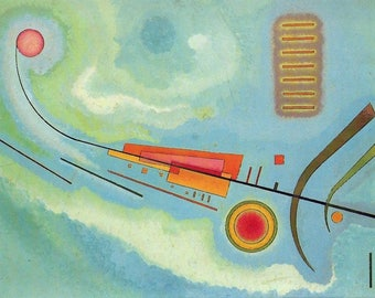 "Laminated placemat Kandinsky ""Light"""