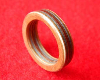 Ring made of wood veneer size 53
