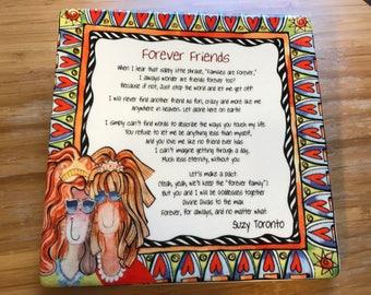 Forever Friends Tile Hanging