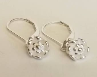 NEW!!! Buttercup Sterling Silver Earrings with Lever backs in Garden Collection!
