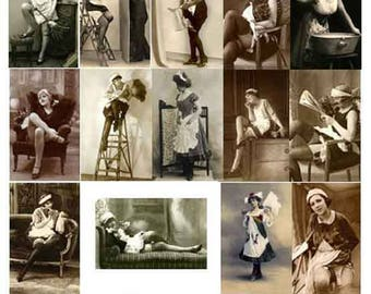 25 RESTORED VINTAGE IMAGES Maid Costumes Download