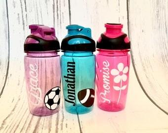 Plastic Water Bottle, Personalized Kids Water Bottle, Personalized Kids Cup, Kid Party Cups, Kids Party Favor Cups, Custom Kids Water Bottle