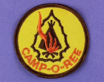 Camp-O-Ree Vintage 1970s Boy Scout Patch