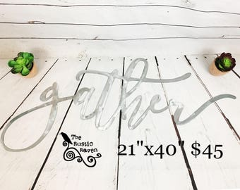 Gather steel cutout home decor wall art