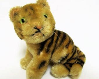 Tiny Steiff Sitting Bengal Tiger 4'' High-Germany.