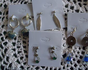 EARRINGS - DESTASHING - 4 PR - Some Vintage, Some Gently Worn, Some Never Worn - All Pierced Earrings